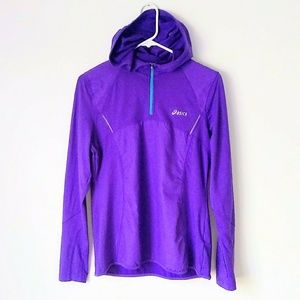 Asics Purple Pull Over Workout Hoodie